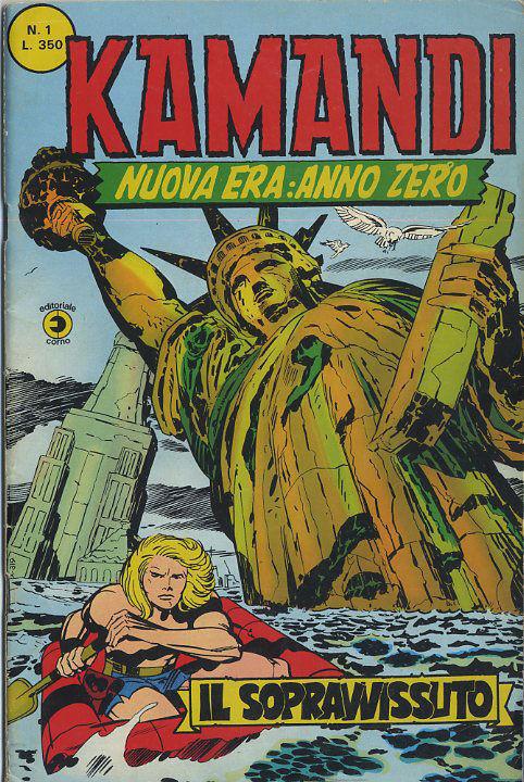 Il primo numero di Kamandi - Nuova era : Anno zero (Ed. Corno)